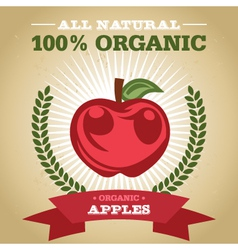 Organic apples vector