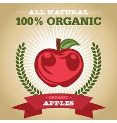 Organic Apples vector image