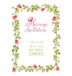 Marriage invitation vector