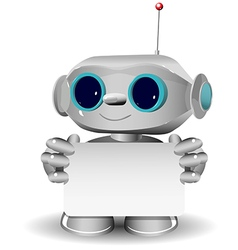 White robot with a white background vector