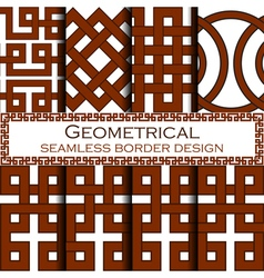 Geometrical borders set vector