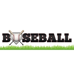 Baseball word art vector