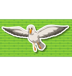 Seagull flying in the sky vector