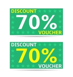 Discount voucher cards vector
