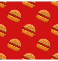 Geometric flat burgers seamless pattern vector