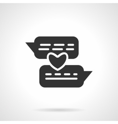 Distance love black icon vector