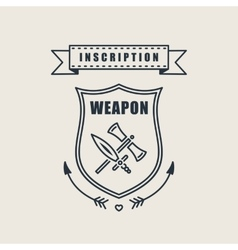 Retro vintage sword badges shields crests vector