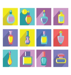 Perfume bottles collection vector