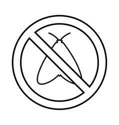 No moth sign icon outline style vector