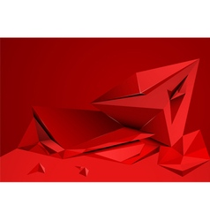 Abstract shape red color vector