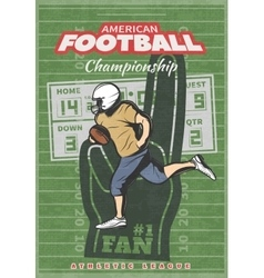American Football Championship Poster vector image