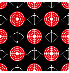 Archery seamless pattern - seamless texture red vector