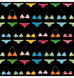 Bikini swimsuit pattern vector image