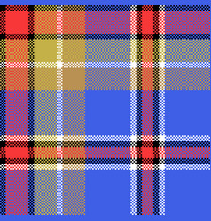 blue check fabric texture square pixel seamless vector image