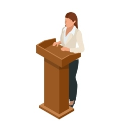 Business woman giving a presentation in a vector image vector image