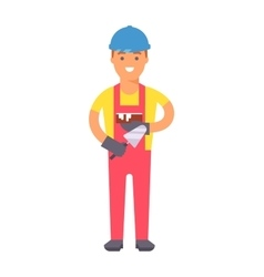 Cartoon worker character vector image vector image