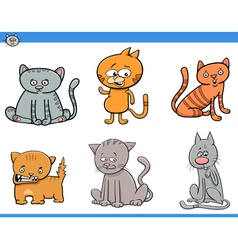 cat cartoon characters set vector image vector image