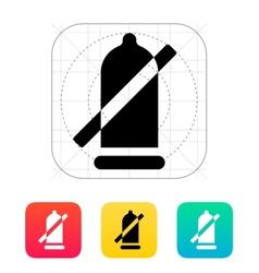 Condom ban icon vector