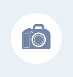 Dslr camera icon isolated over white vector