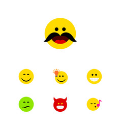 Flat icon expression set of descant have an good vector