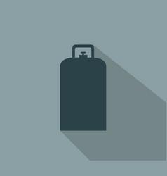 Gas bottle icon vector