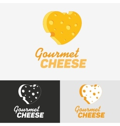 Gourmet cheese logo vector