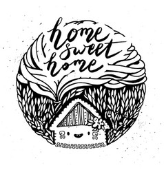 Hand drawn cartoon house vector