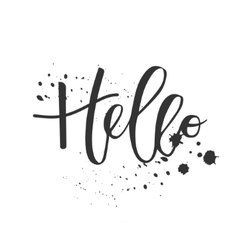 Hello hand written inscription vector image