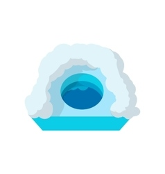 Hole for ice fishing cartoon icon vector image