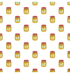 Jar of honey pattern cartoon style vector