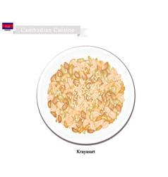 Krayasart or cambodian sweet crunchy dessert vector
