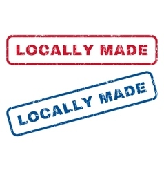Locally made rubber stamps vector