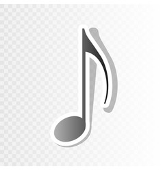music note sign new year blackish icon on vector image vector image