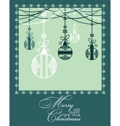 Poster merry christmas and happy new year vector