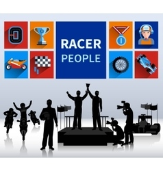 Racers Concept vector image vector image