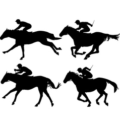 Racing horses vector image vector image