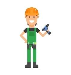 Repair serviceman with tool screwdriver vector