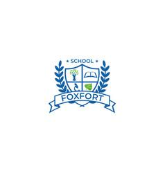 School crest logo template vector