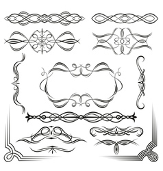 set of design vintage elements vector image vector image