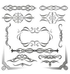 set of design vintage elements vector image