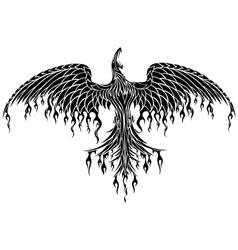 Tattoo tribal phoenix vector