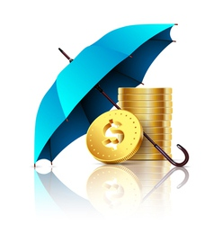 umbrella and money vector image vector image