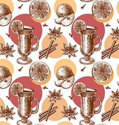 Warm wine seamless background vector