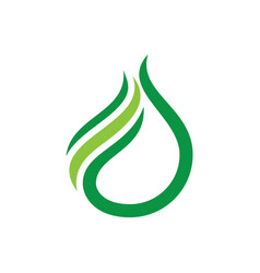 Waterdrop eco sign logo vector