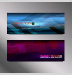 Web banner elegant vector