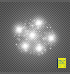 white glittering star dust trail sparkling vector image