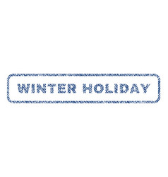 Winter holiday textile stamp vector