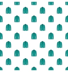 Men green jacket pattern cartoon style vector