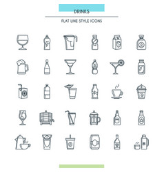 website design thin icons vector image