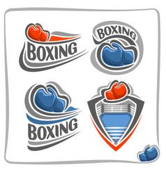 Logo boxing gloves vector